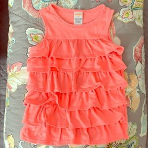 Bright, summery ruffled tank